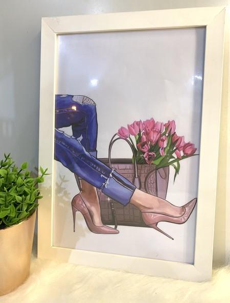 Quadro Jeans e Flores
