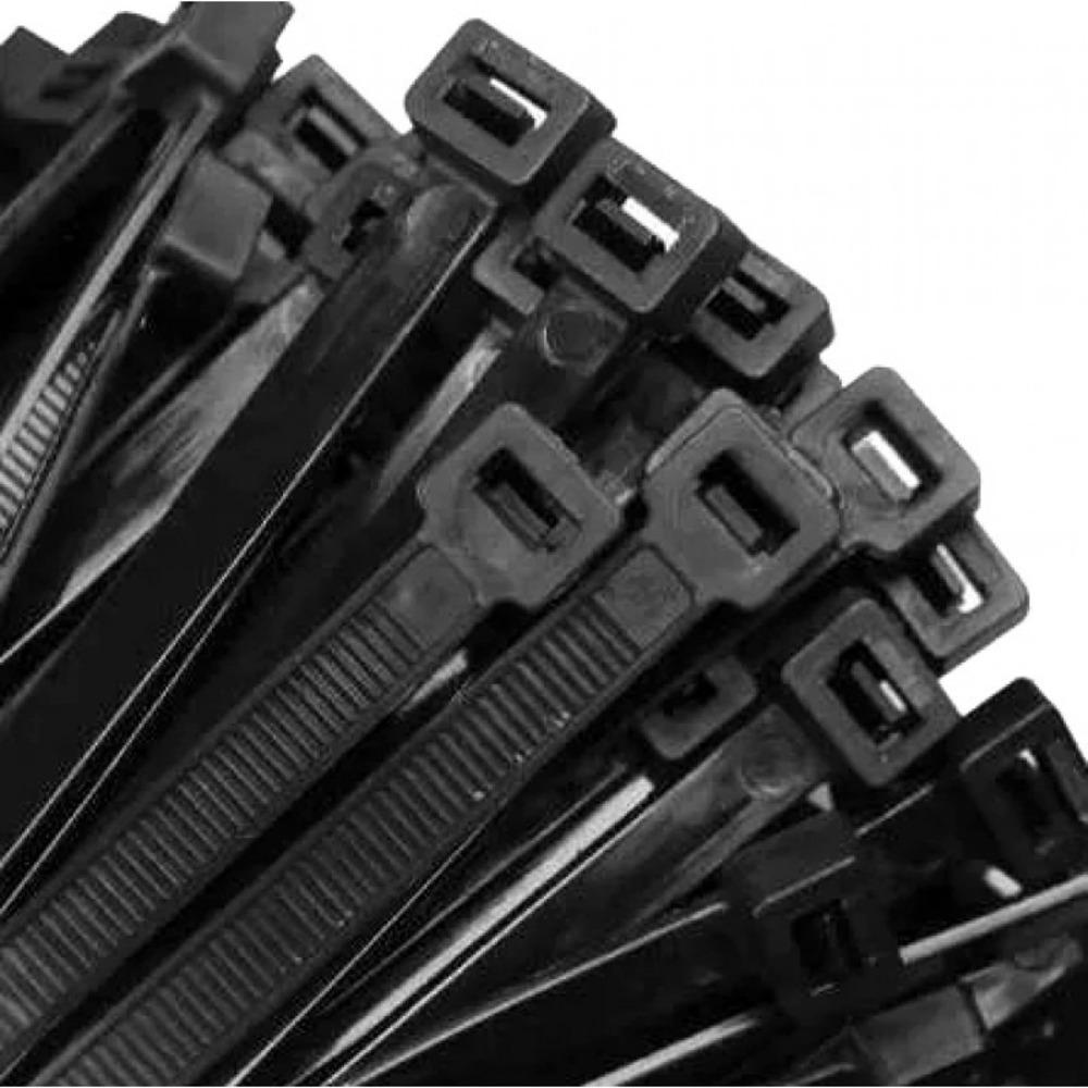 Abraçadeira de Nylon 400mm X 7,5mm Preta - 100 unidades  - Casa do Roadie