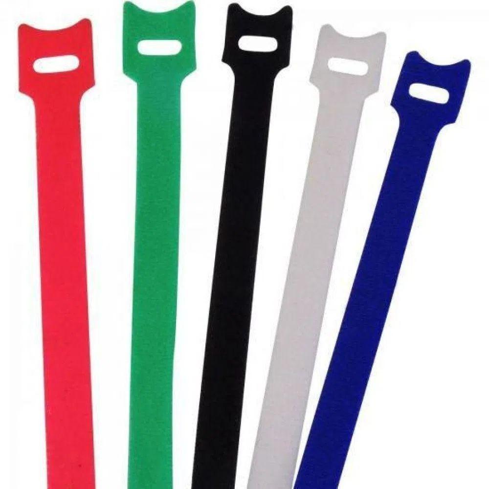 Abraçadeira para Cabos Velcro 330mm x 14mm Colorido Brasfort - Kit com 5  - Casa do Roadie