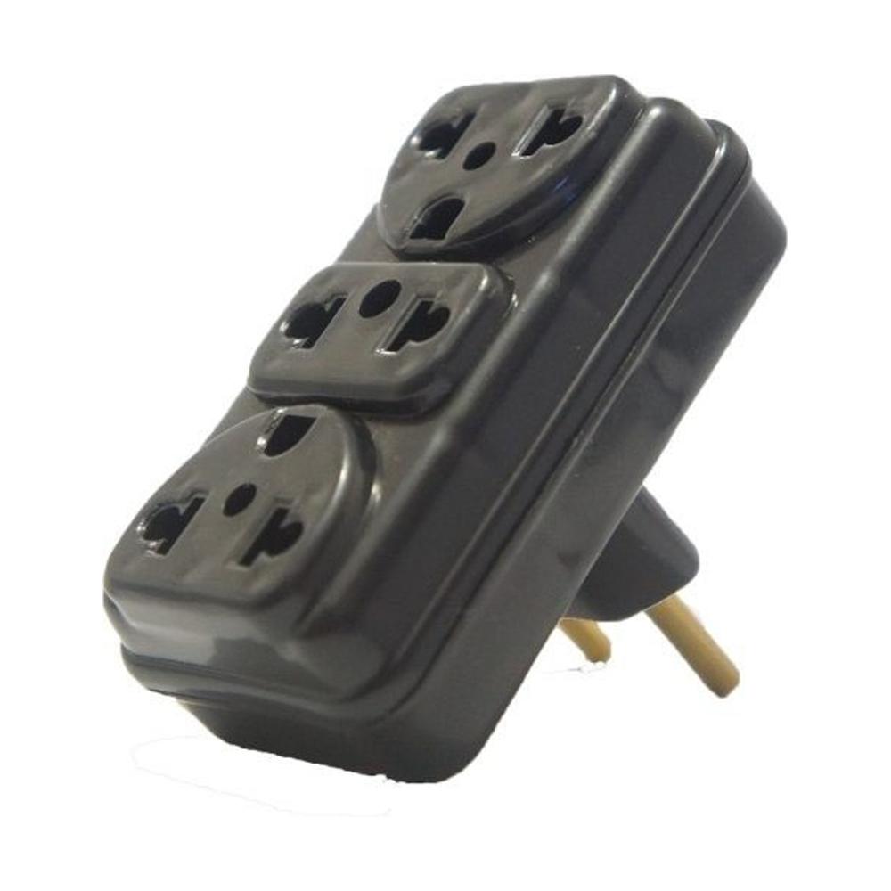 Adaptador de Tomada 2P para 3 Entradas Eletroplas