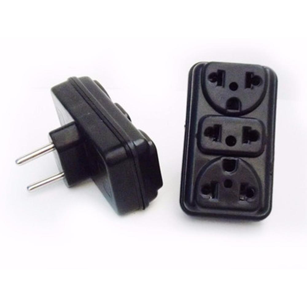 Adaptador de Tomada 2P para 3 Entradas Eletroplas  - Casa do Roadie