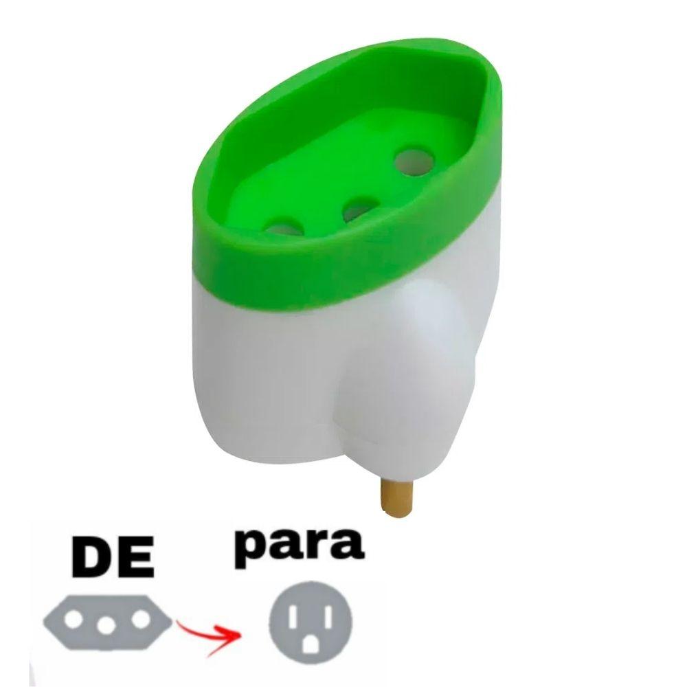 Adaptador de Tomada 2P+T Tripolar Brasileiro para Tripolar 15A Daneva