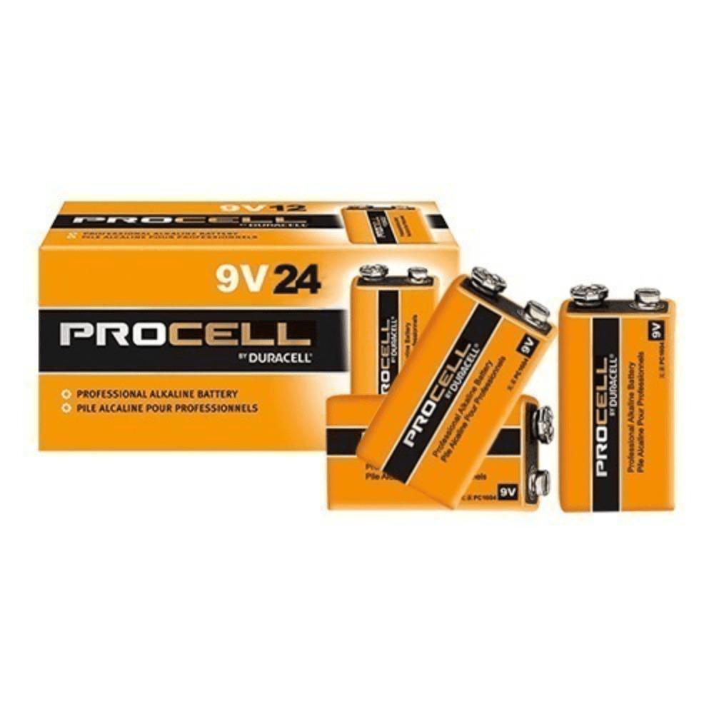Bateria Alcalina 9V Duracell Procell - Kit com 24  - Casa do Roadie