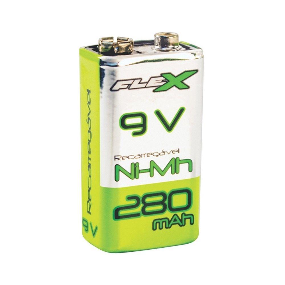 Bateria Recarregável 9V 250mAh Flex