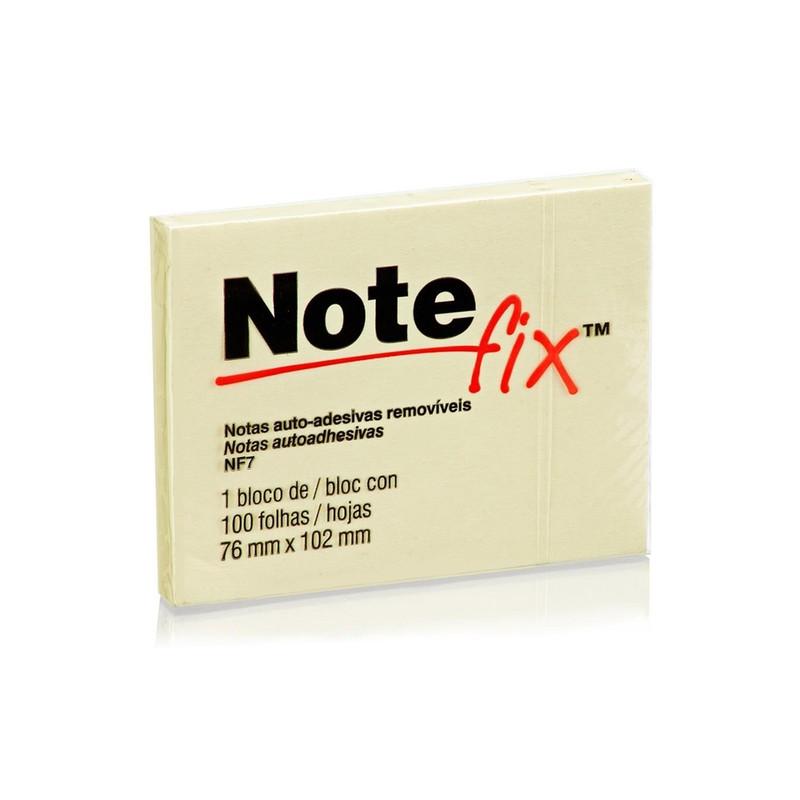 Bloco de Folhas Adesivas Notefix 76mm X 102mm Amarelo 100 Folhas  - Casa do Roadie