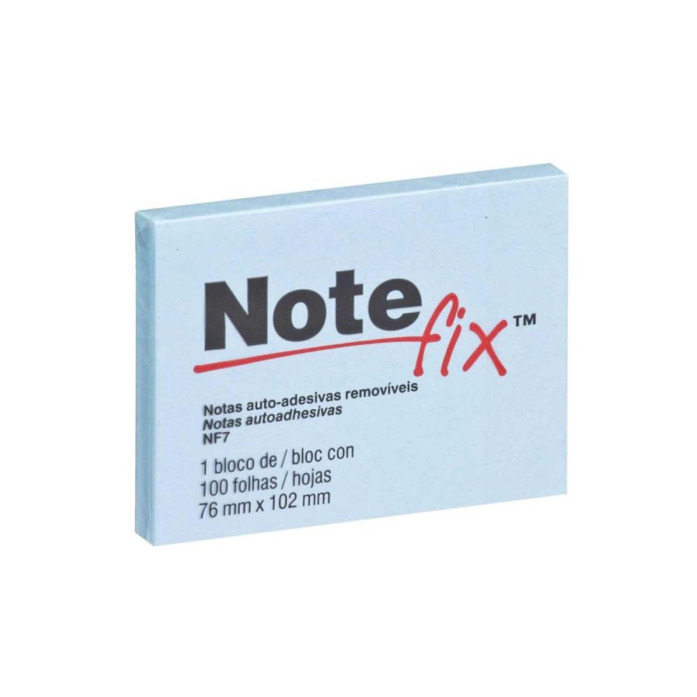 Bloco de Folhas Adesivas Notefix 76mm X 102mm Azul 100 Folhas