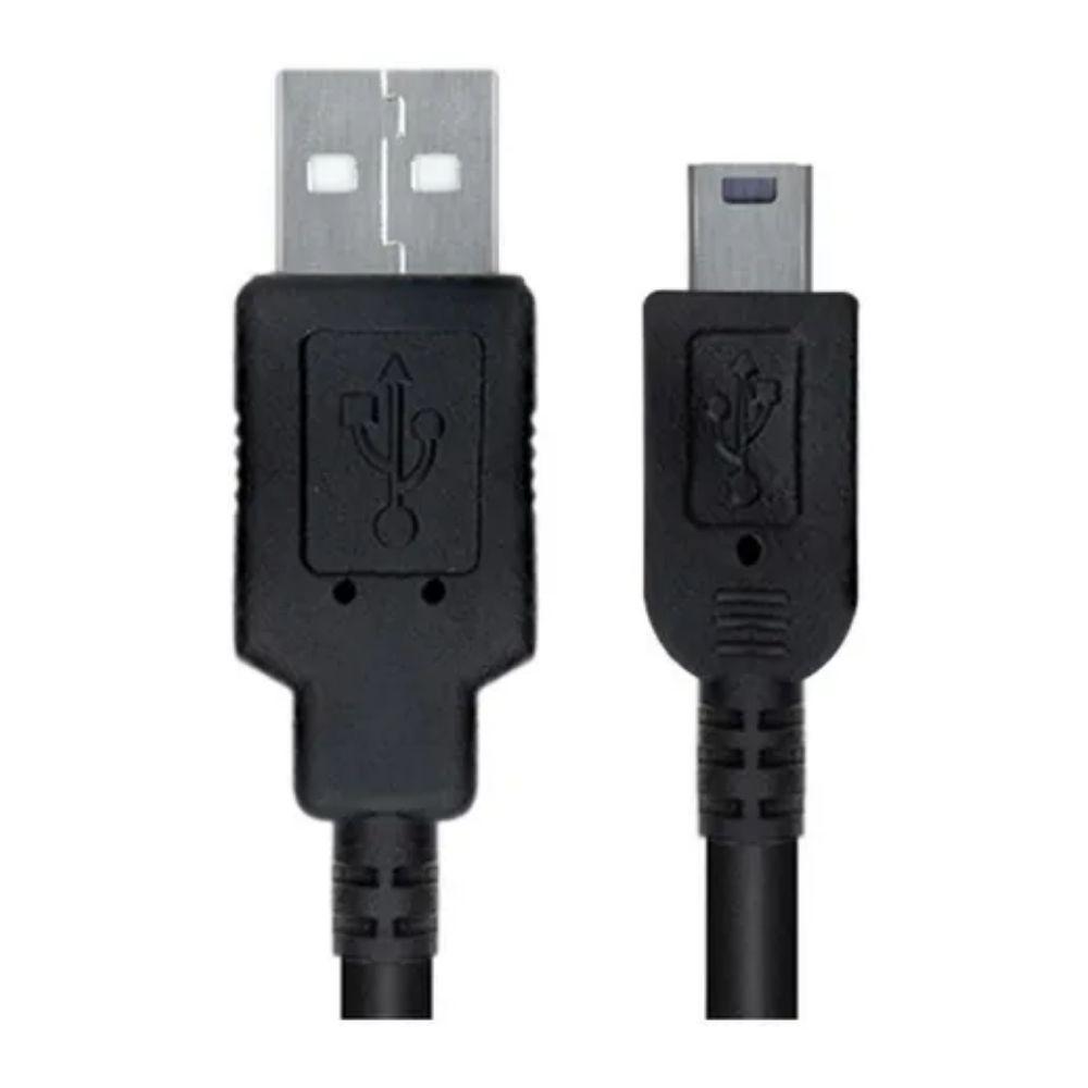 Cabo USB Macho para Mini USB Macho 1,80 Metros