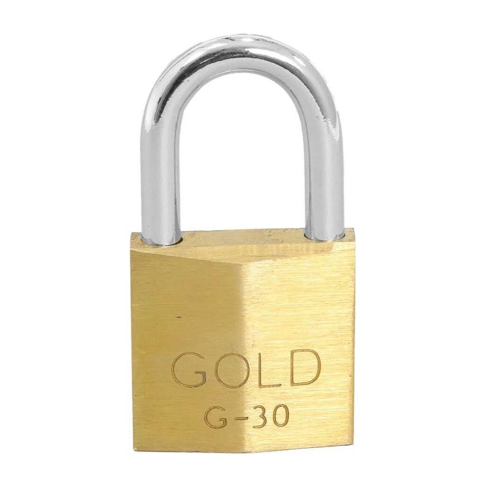 Cadeado de Latão 30mm Gold