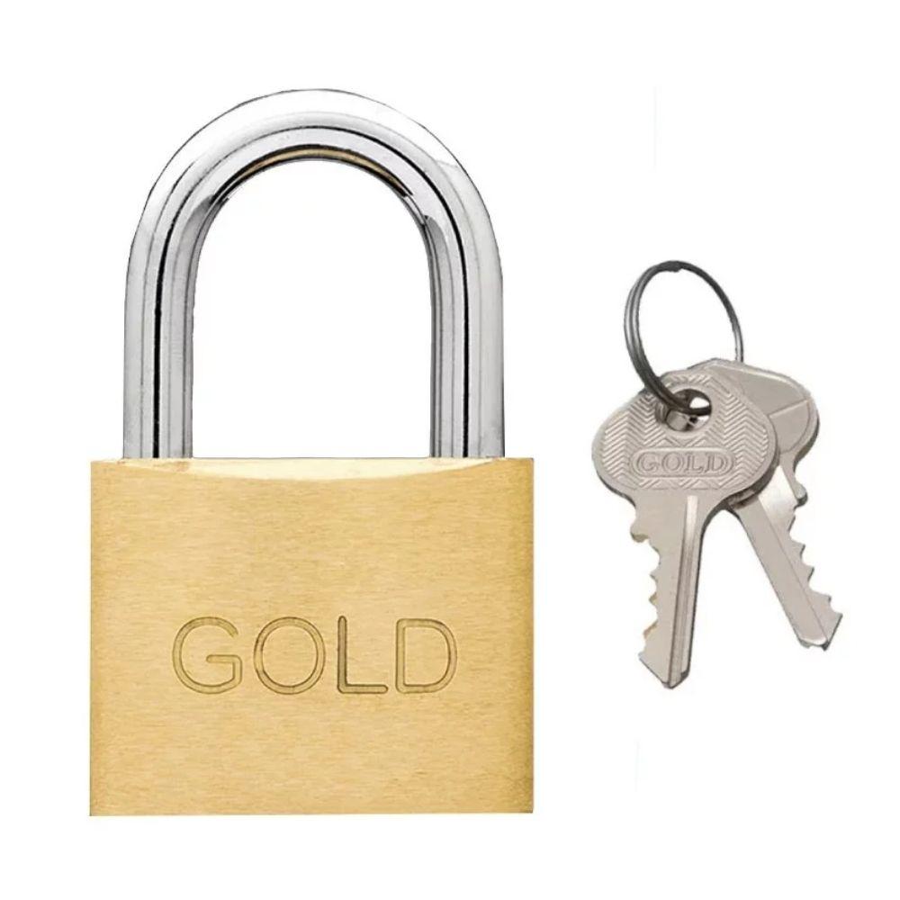 Cadeado de Latão 50mm Gold