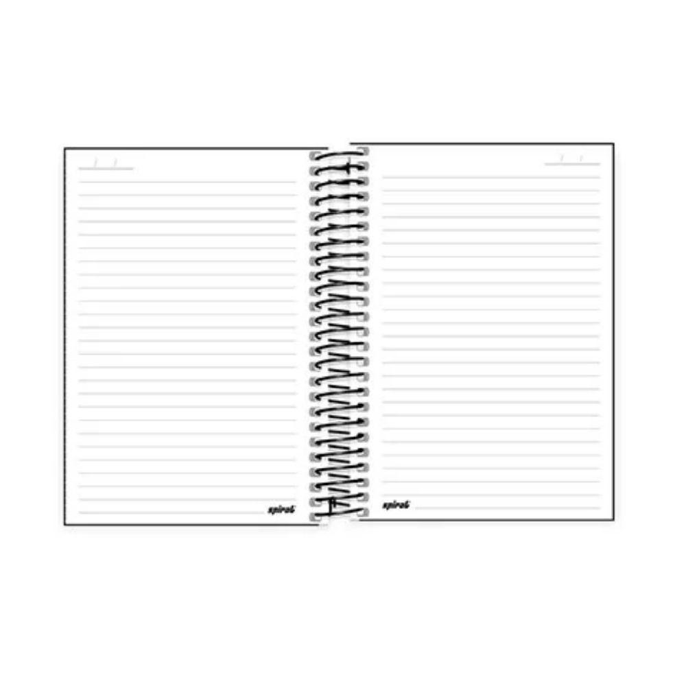 Caderno Espiral Capa Dura Preta 1/4 1x1 96 Folhas  - Casa do Roadie