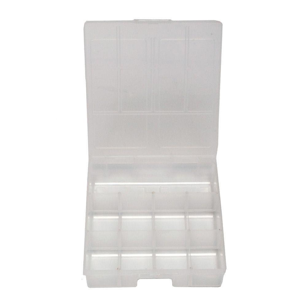 Caixa Organizadora Plástica com divisória 19,5cm X 16,6cm X 4,7cm São Bernardo