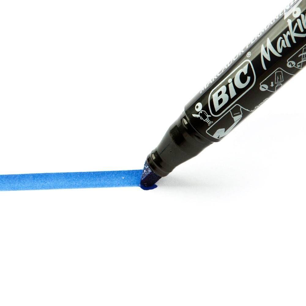 Caneta Marcadora Permanente Bic Azul  - Casa do Roadie
