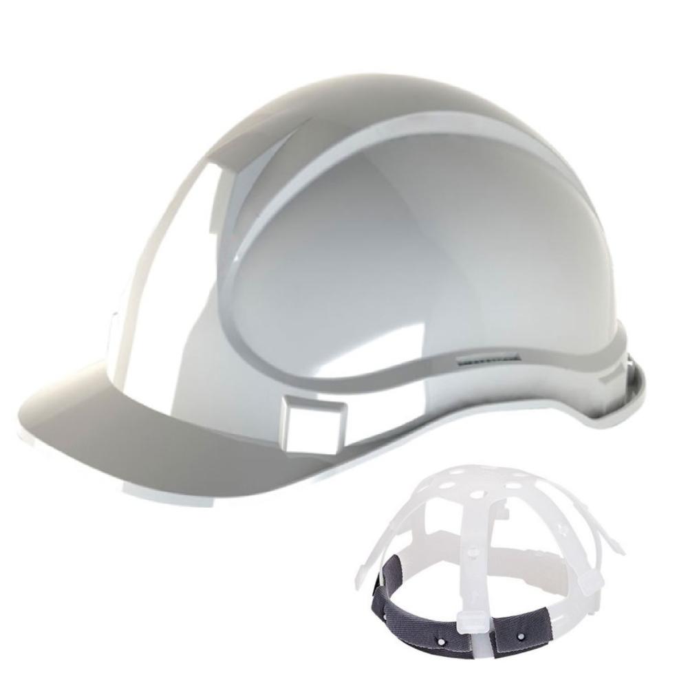 Capacete de Segurança com Carneira Plástica Branco Deltaplus CA29792