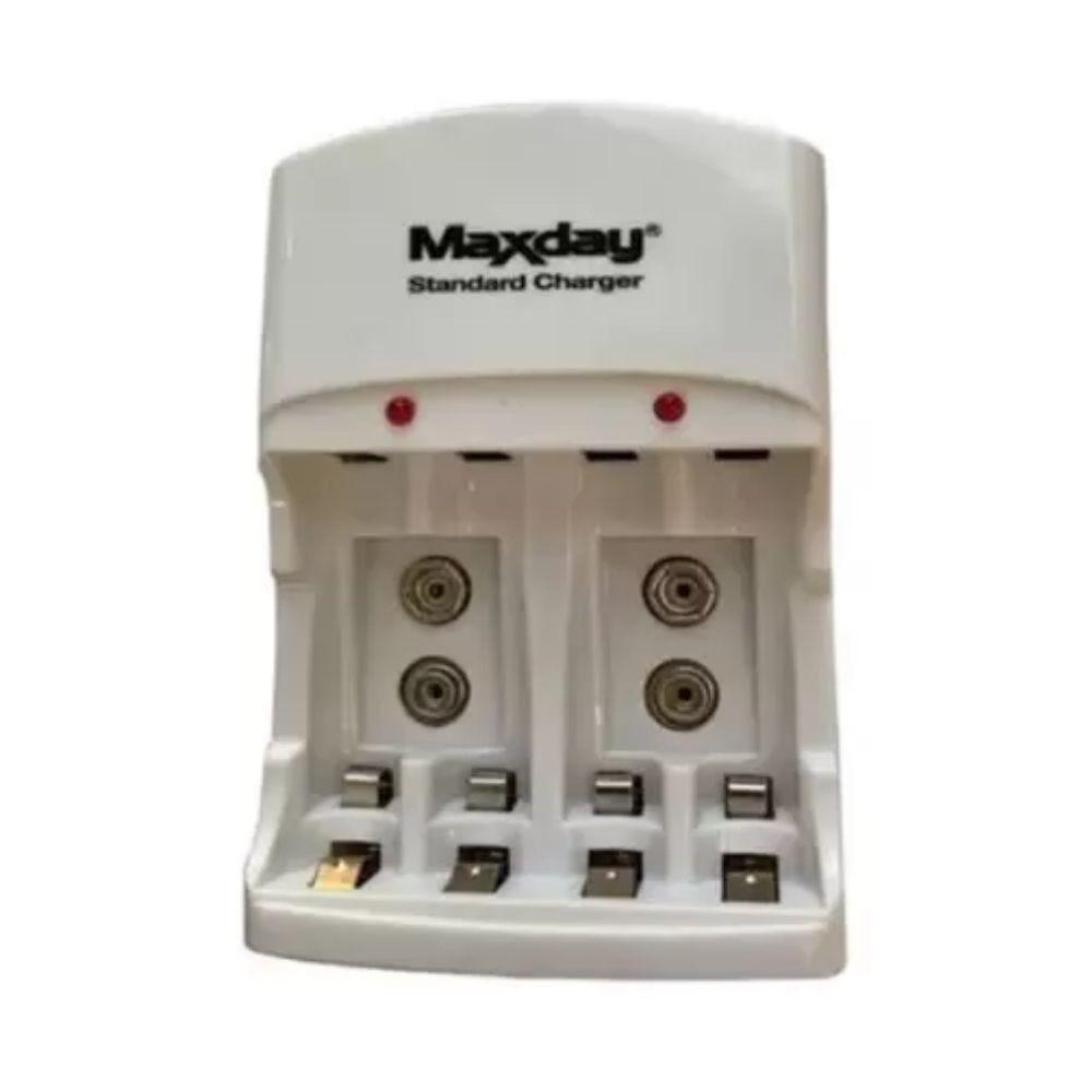 Carregador de Pilhas e Baterias Bivolt Maxday
