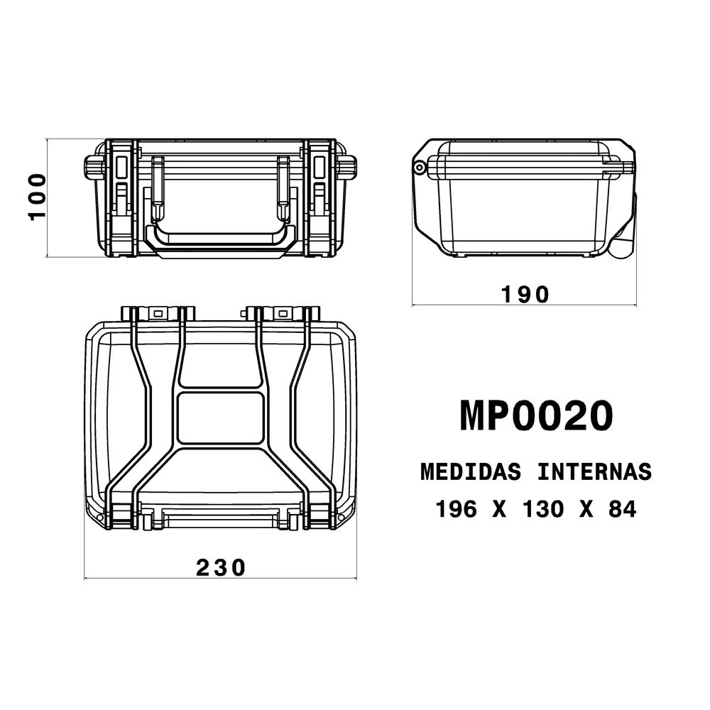 Case Rígido Patola MP-0020 Azul  - Casa do Roadie