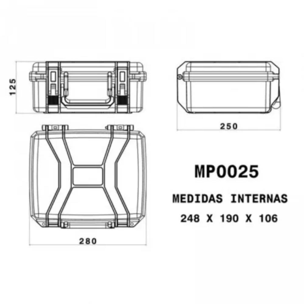 Case Rígido Patola MP-0025 Preto  - Casa do Roadie