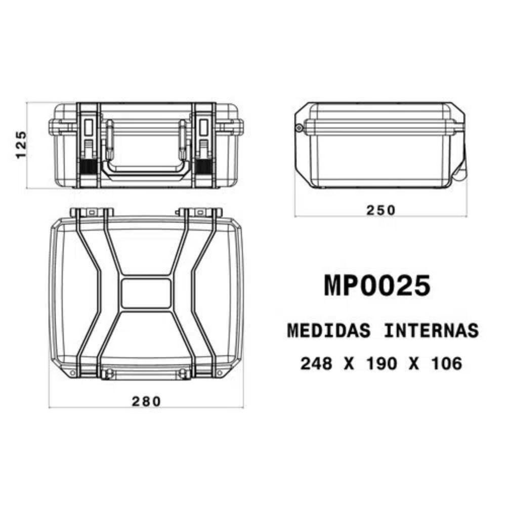 Case Rígido Patola MP-0025 Vermelho  - Casa do Roadie