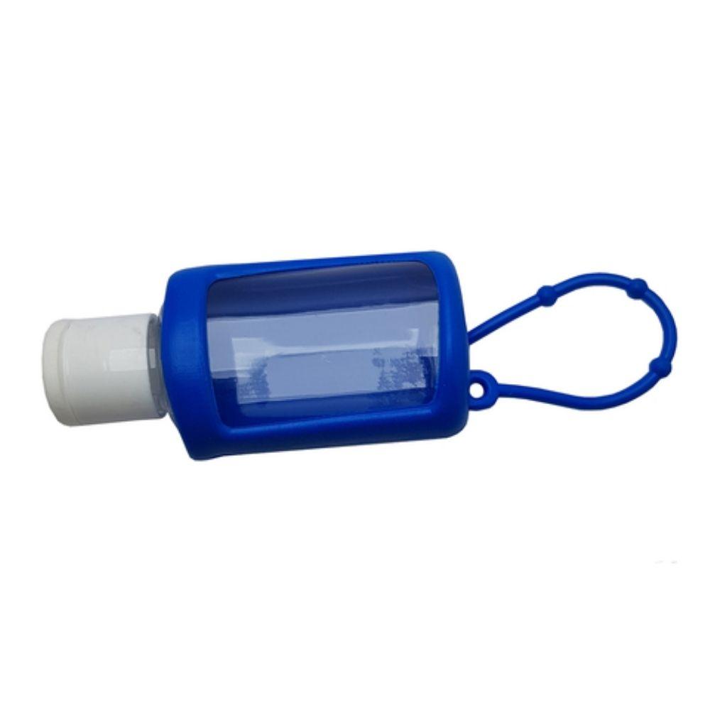 Chaveiro porta álcool gel 30ml Azul