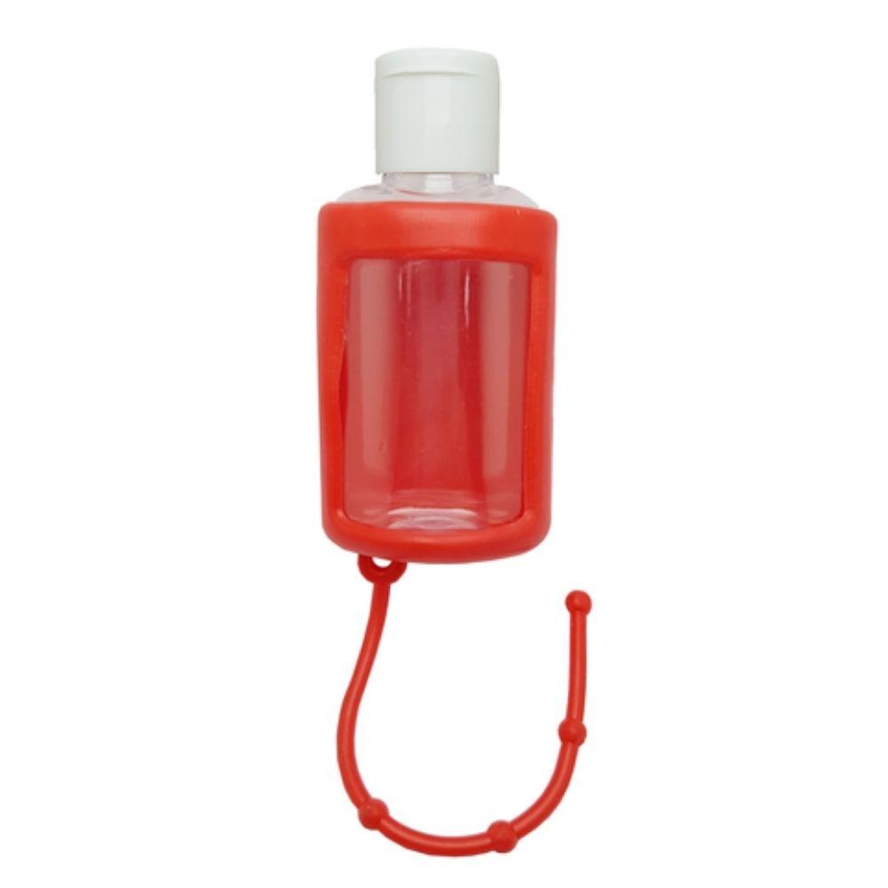 Chaveiro porta álcool gel 30ml vermelho