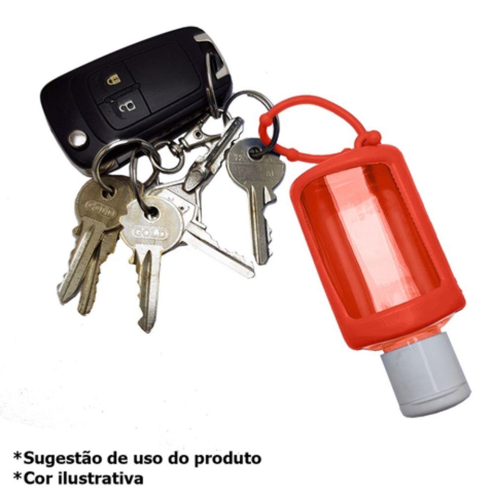 Chaveiro porta álcool gel 30ml vermelho  - Casa do Roadie