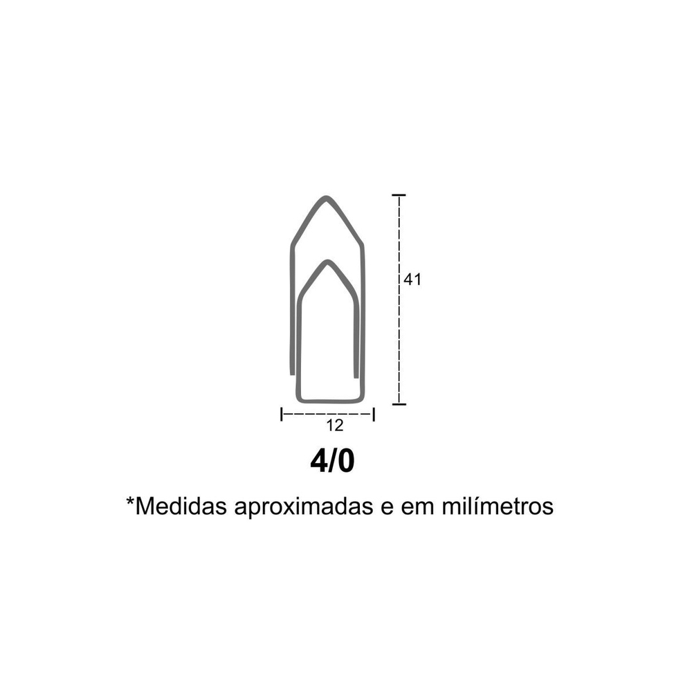 Clips para Papéis Nº04 - 400 Unidades  - Casa do Roadie