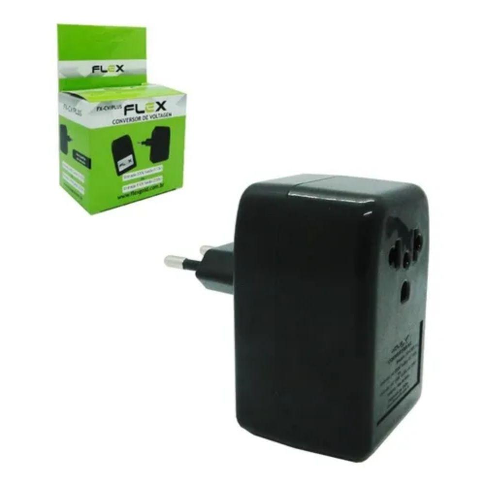 Conversor de Voltagem Flex 220v P/ 110v Ou 110v P/ 220v
