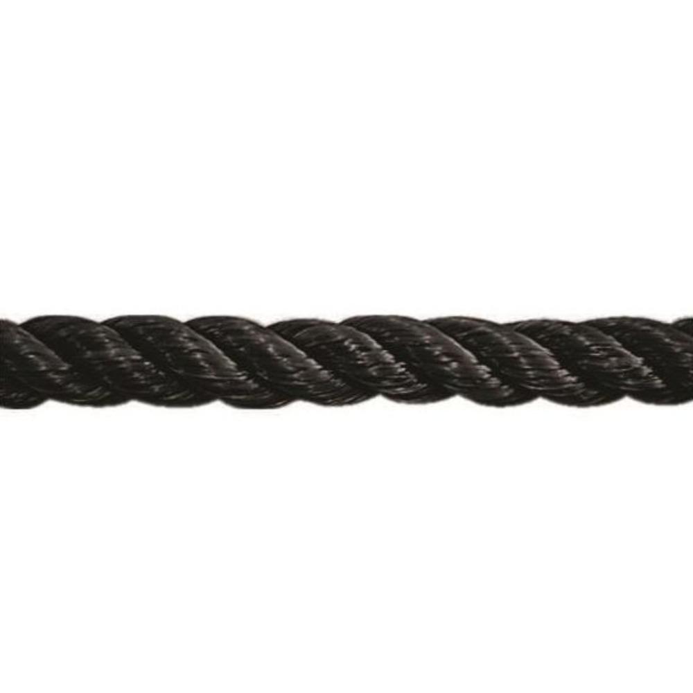 Corda de Polipropileno Trançada 8mm x 1m Preta  - Casa do Roadie