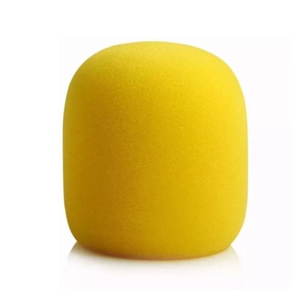 Espuma para Microfone Amarela