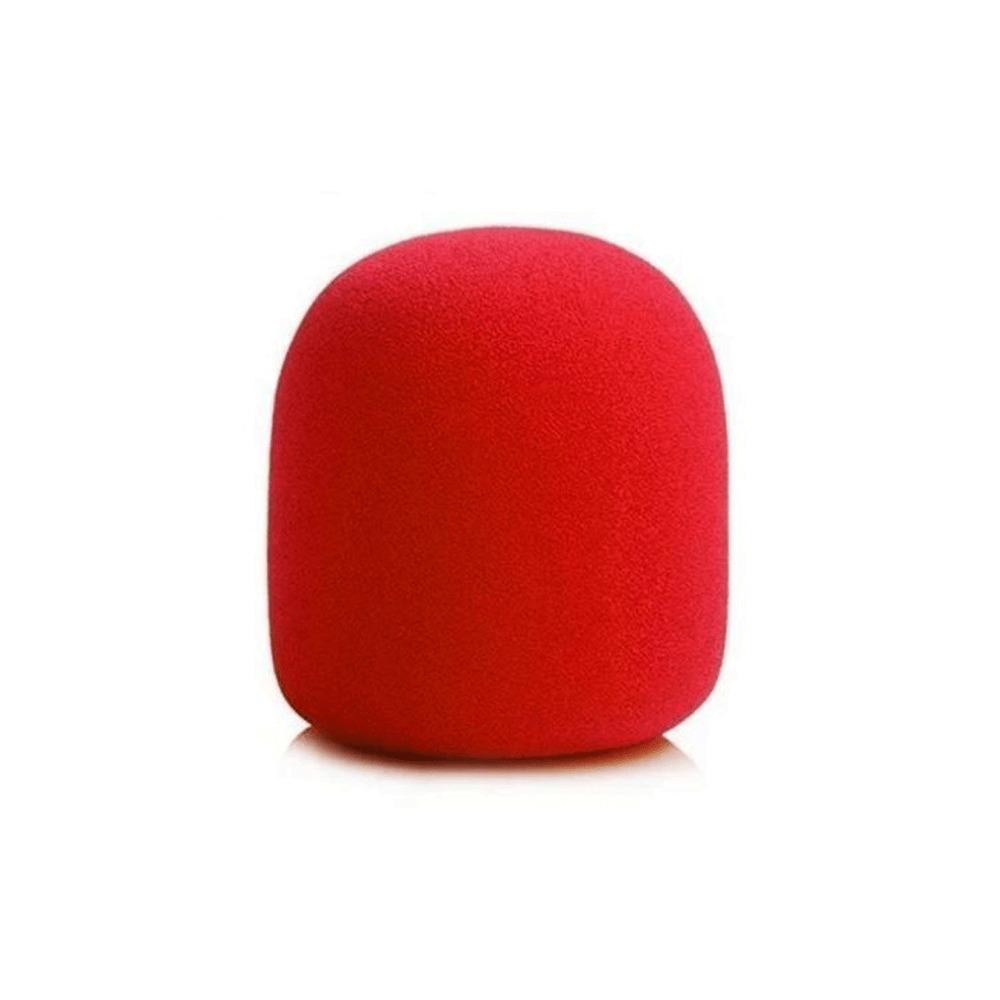 Espuma para Microfone Vermelha