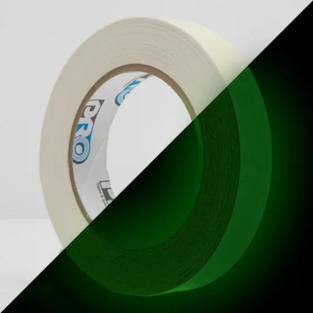 Fita Adesiva Fosforescente Pro Glow Pro Tapes 24mm X 9,2m  - Casa do Roadie