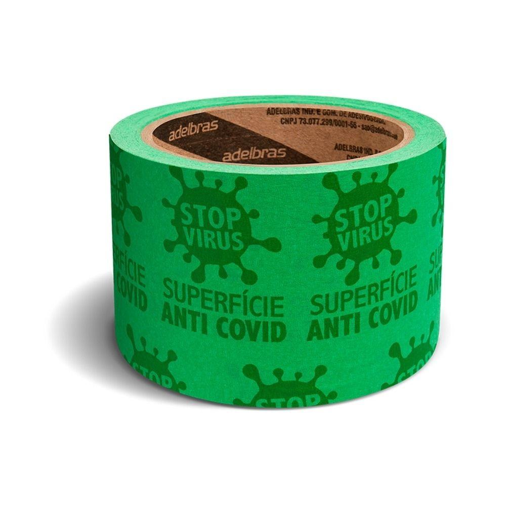 Fita de Papel Antivírus Stop Vírus Adelbras 48mm x 20m