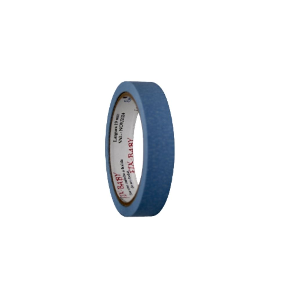 Fita de Papel Crepe 19mm x 20m Azul claro  - Casa do Roadie