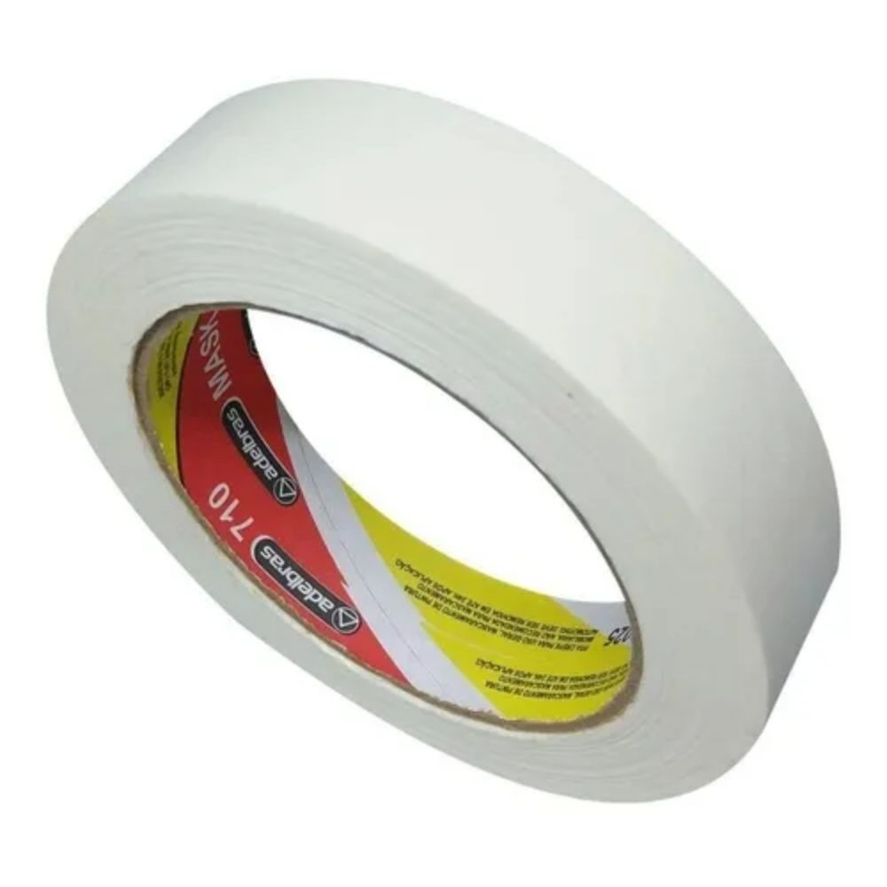 Fita de Papel Crepe Colorida Adelbras 24mm X 50m Branca