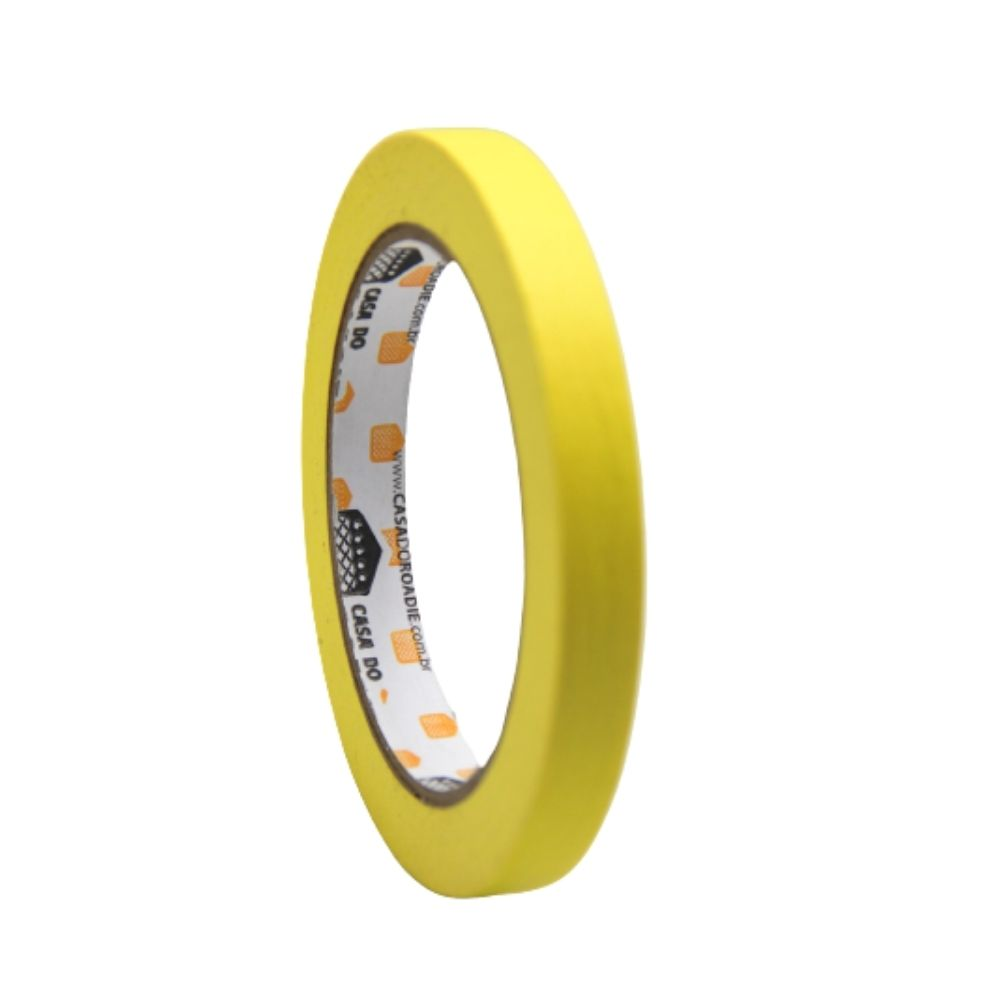 Fita de Papel Crepe Colorida Casa do Roadie 12mm X 40m Amarela