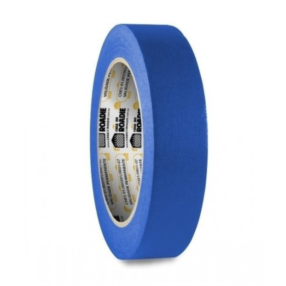 Fita de Papel Crepe Colorida Casa do Roadie 24mm X 20m Azul