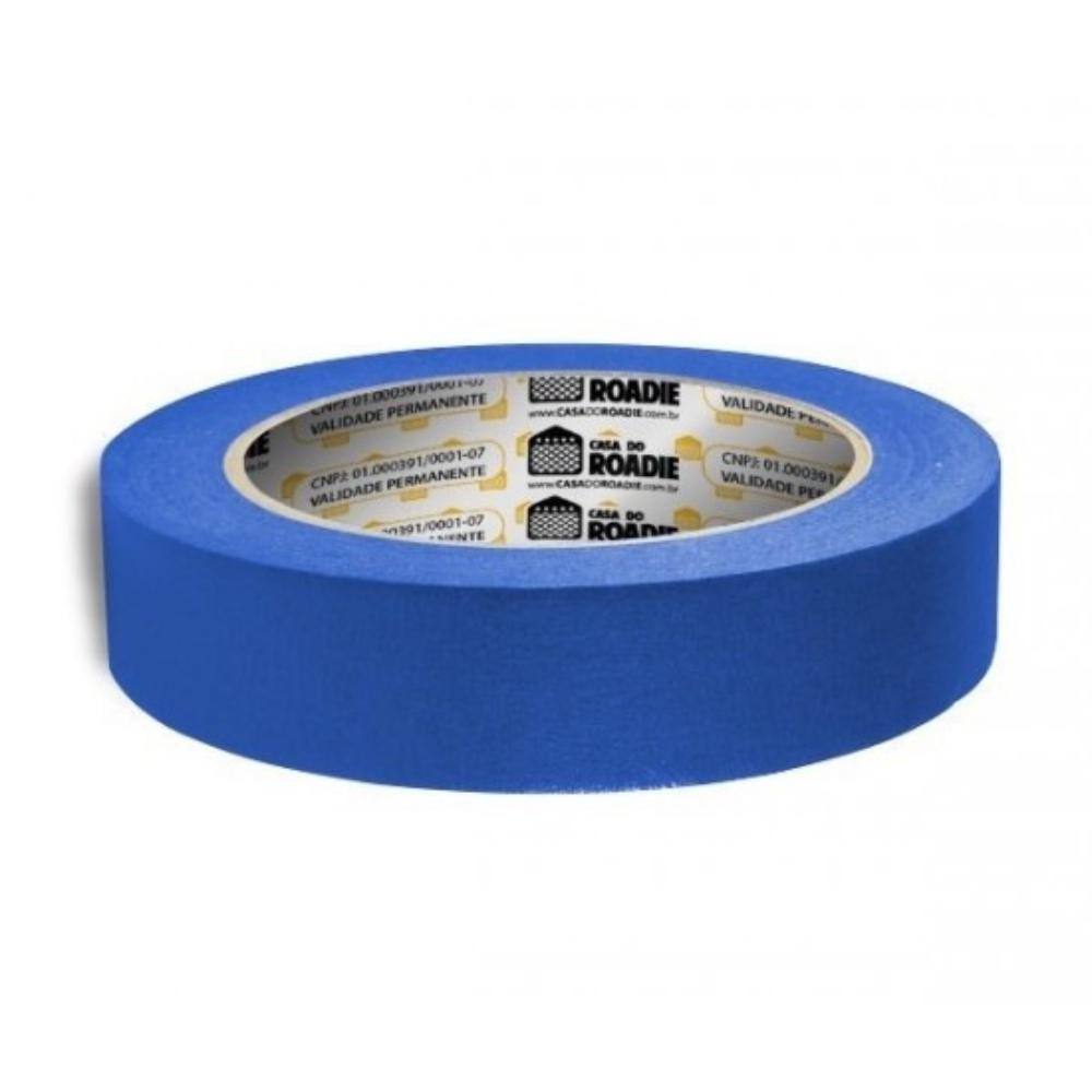 Fita de Papel Crepe Colorida Casa do Roadie 24mm X 50m Azul  - Casa do Roadie