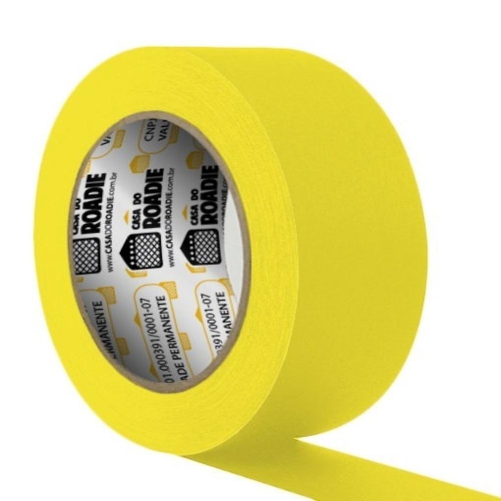 Fita de Papel Crepe Colorida Casa do Roadie 48mm X 20m Amarela