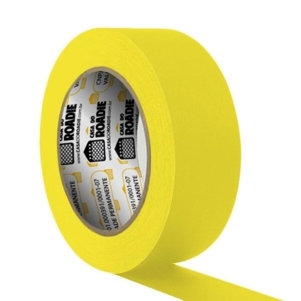 Fita de Papel Crepe Colorida Casa do Roadie 48mm X 40m Amarela