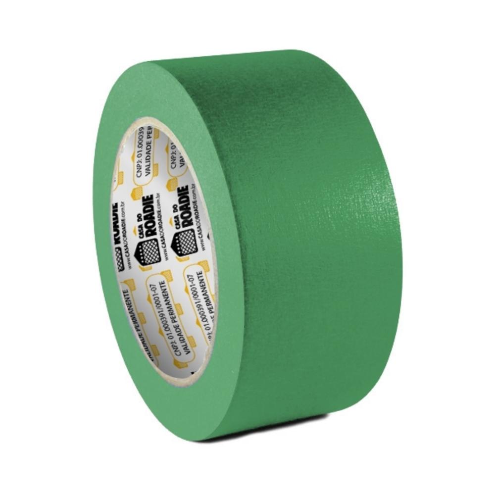 Fita de Papel Crepe Colorida Casa do Roadie 48mm X 40m Verde  - Casa do Roadie