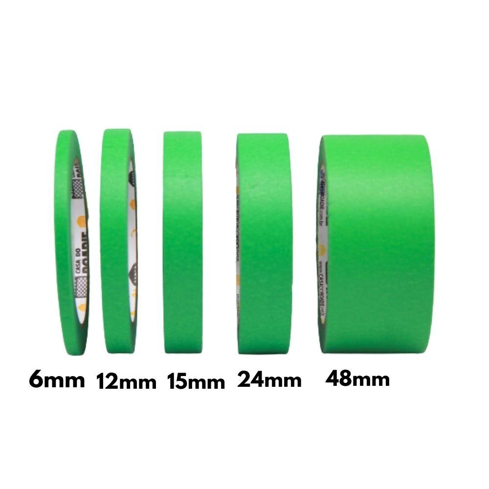 Fita de Papel Crepe Colorida Casa do Roadie 6mm X 40m Verde  - Casa do Roadie