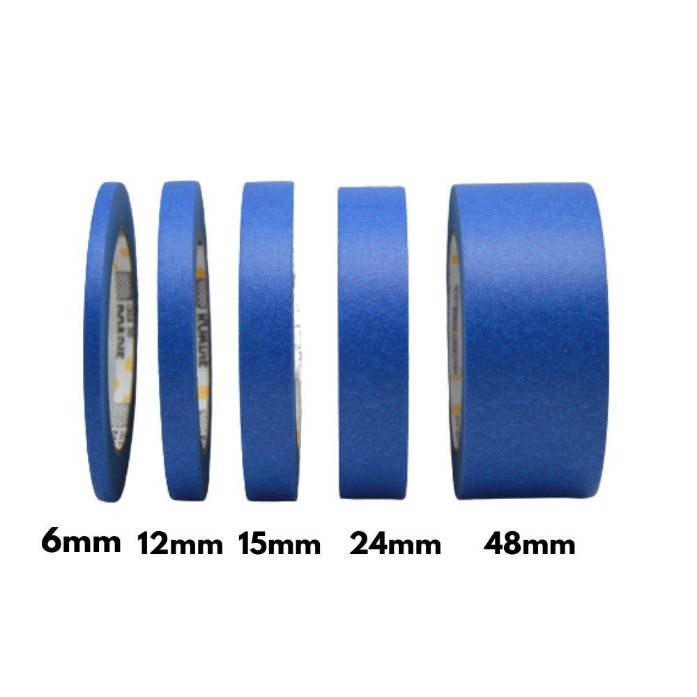 Fita de Papel Crepe Colorida Casa do Roadie 6mm X 50m Azul  - Casa do Roadie