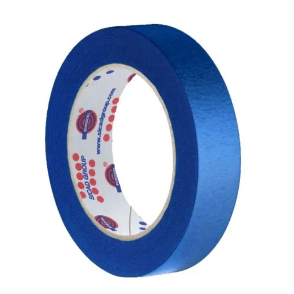 Fita de Papel Crepe Colorida Eurocel 19mm X 20m Azul