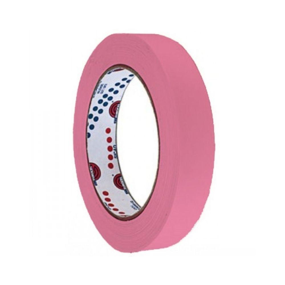 Fita de Papel Crepe Colorida Eurocel 19mm X 20m Rosa