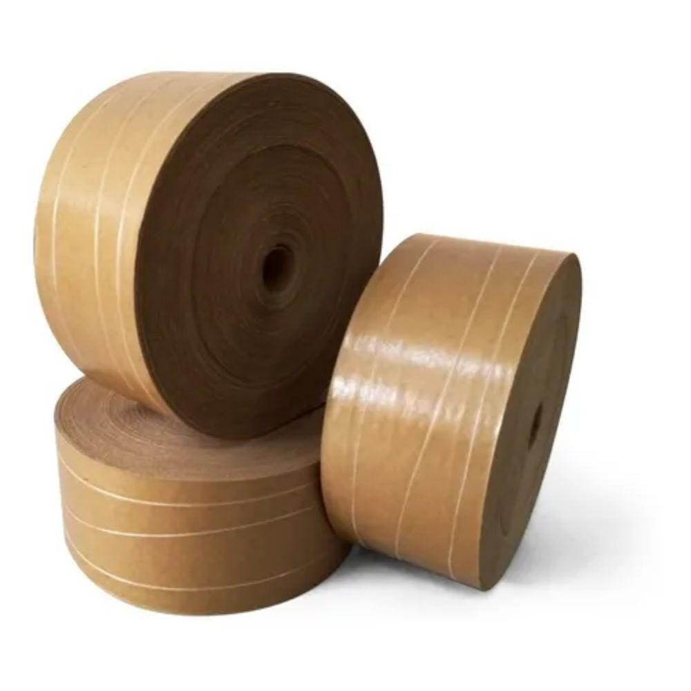 Fita de papel Gomada com Reforço 80mm  - Casa do Roadie
