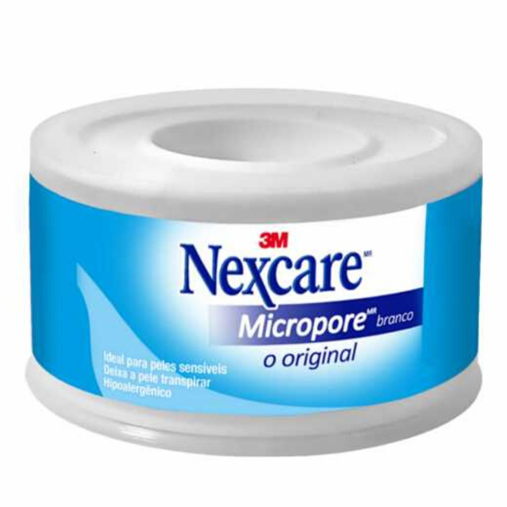 Fita de Papel Microporosa Nexcare 3M 25mm X 4,5m Branco