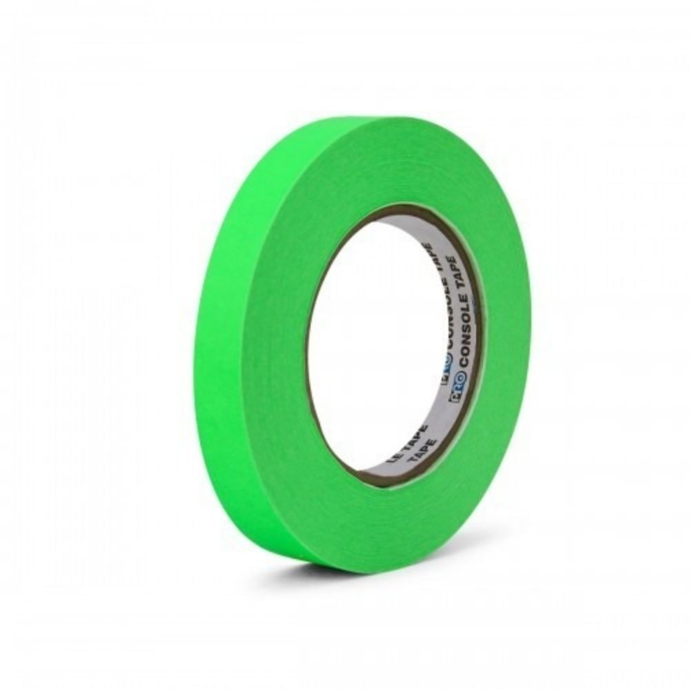 Fita de Papel para Console Artist Tape Pro Tapes 13mm X 50m Verde Fluorescente