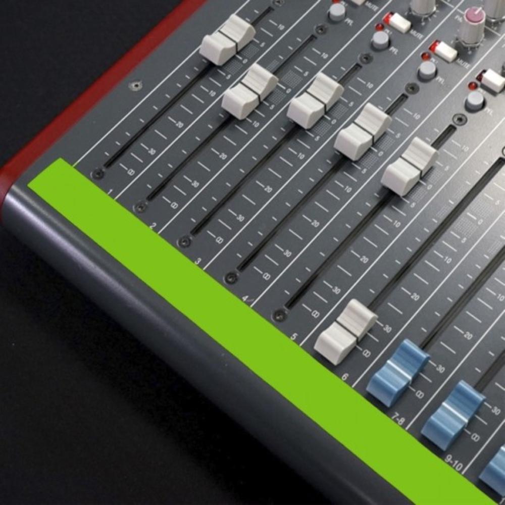 Fita de Papel para Console Artist Tape Pro Tapes 13mm X 50m Verde Fluorescente  - Casa do Roadie