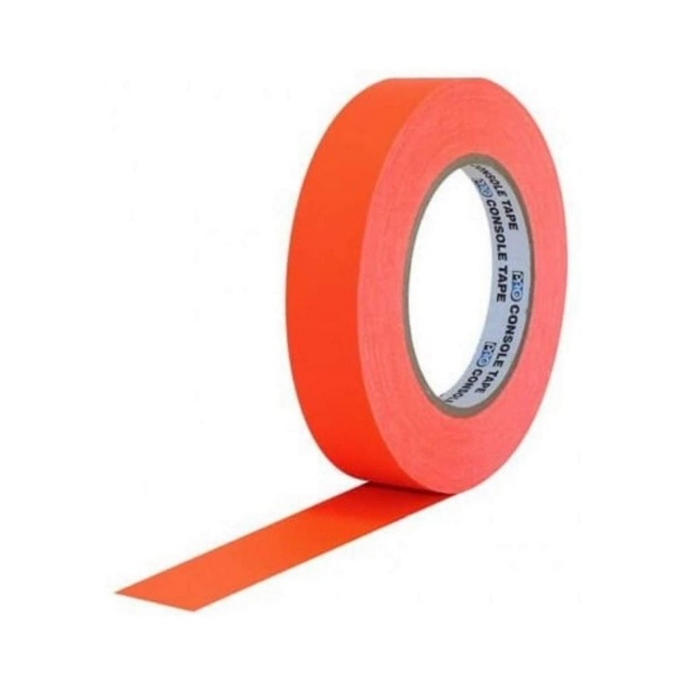 Fita de Papel para Console Artist Tape Pro Tapes 24mm X 50m Laranja Fluor  - Casa do Roadie