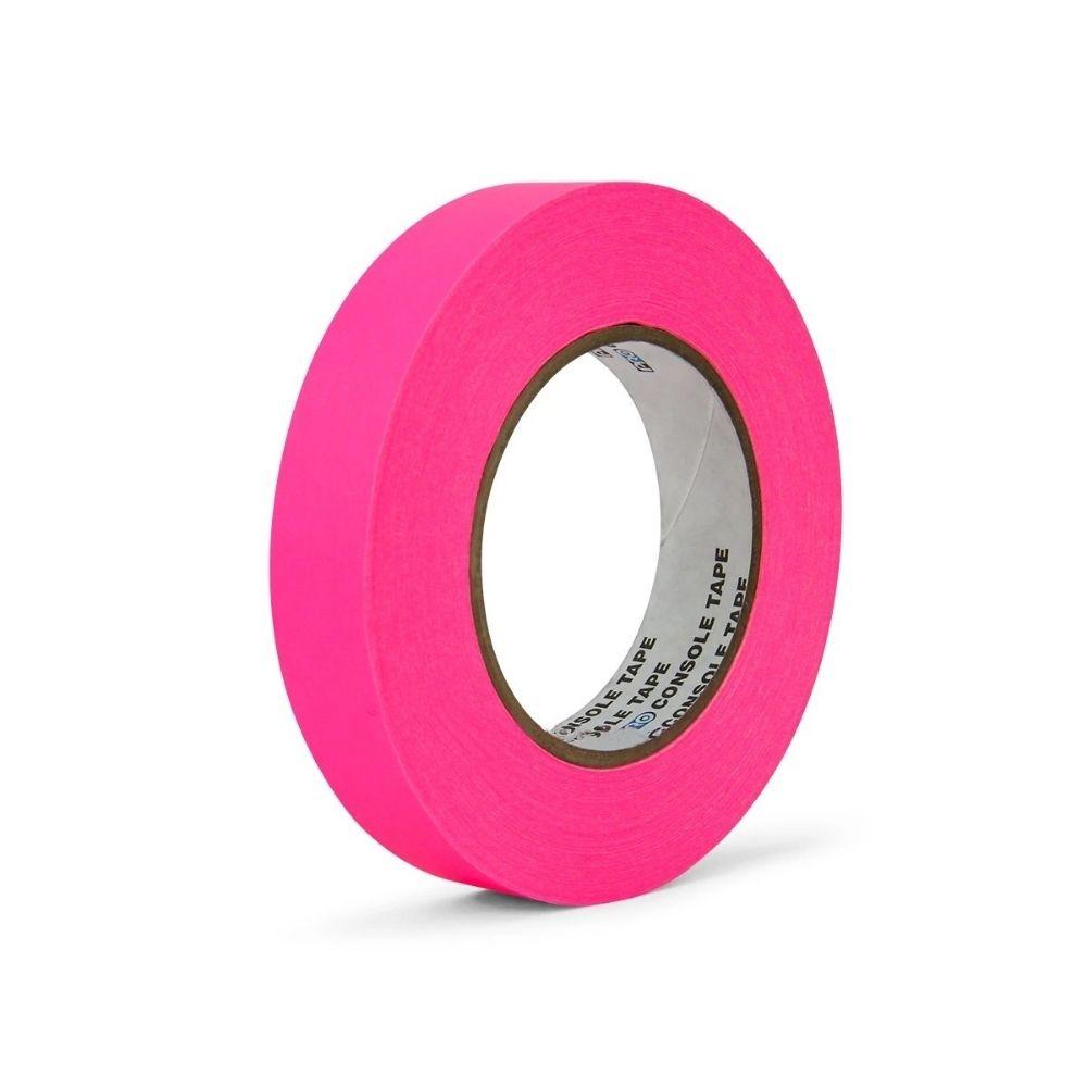 Fita de Papel para Console Artist Tape Pro Tapes 24mm X 50m Rosa Fluor  - Casa do Roadie