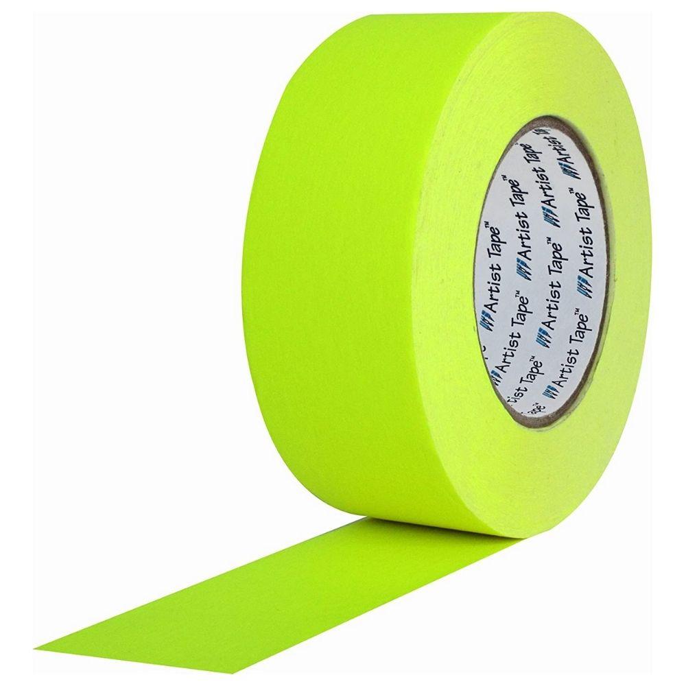 Fita de Papel para Console Artist Tape Pro Tapes 48mm X 50m Amarela Fluor